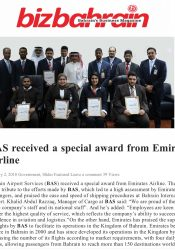 BAS Received a Special Award from Emirates Airline