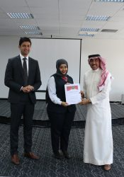 Salman Saleh Al Mahmeed receiving award
