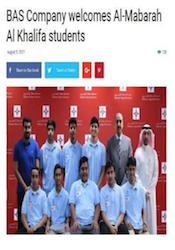 BAS Company Welcomes Al-Mabarah Al Khalifa Students