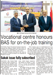 Vocational Centre Honours BAS for On-The-Job Training
