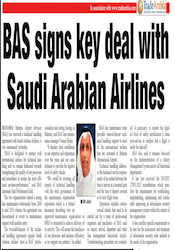 BAS Signs Key Deal with Saudi Arabian Airlines